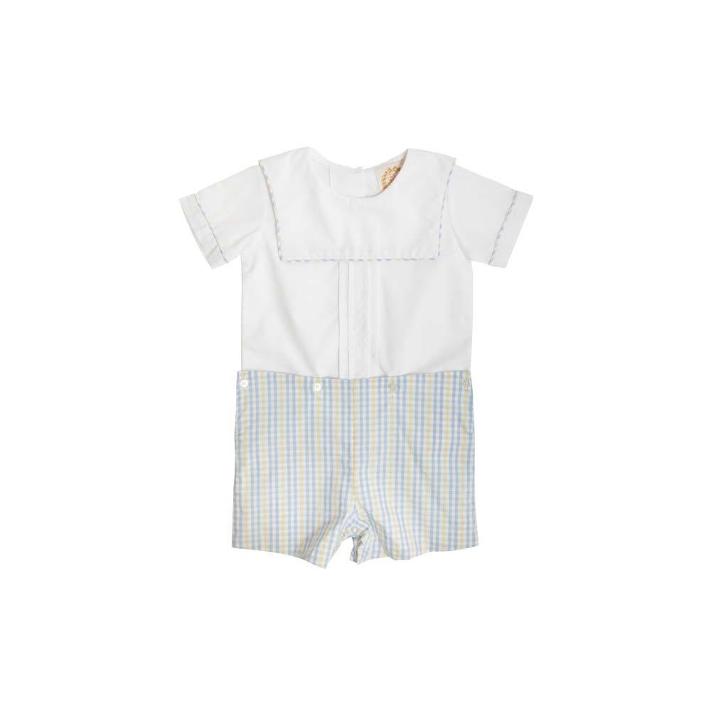 Beauregard Button-Ins - Worth Ave White w/ Sir Proper Sunny Plaid