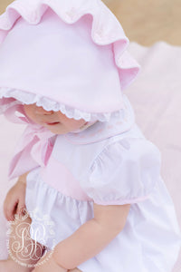 Bellefaire Bonnet - Palm Beach Pink w/ White Eyelet - Broadcloth