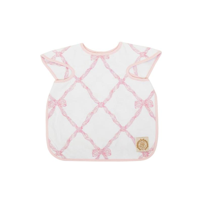 Big Bite Bib - Belle Meade Bow Pink