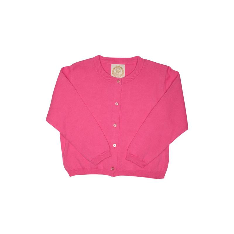 Cambridge Cardigan w/ Pearlized Buttons - Hamptons Hot Pink