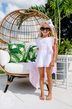 Load image into Gallery viewer, Carolina Coverup - Worth Ave White w/ Pinkney Pink Stripe