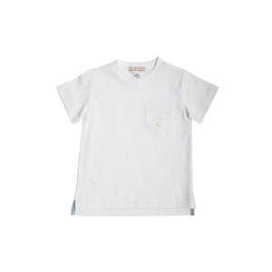 Carter Crewneck (with Pocket) - Worth Avenue White