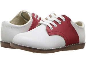 Footmates Cheer Shoe - White/Red