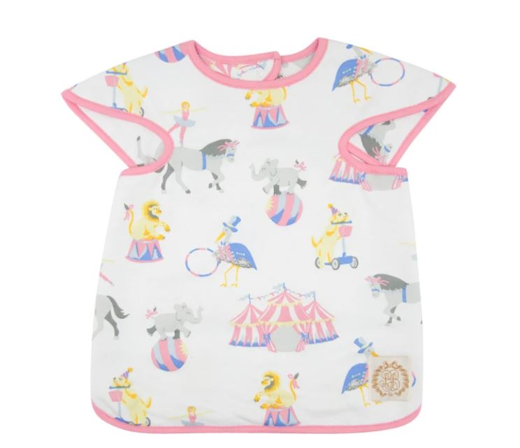Big Bite Bib - Join Our Circus w/ Hamptons Hot Pink
