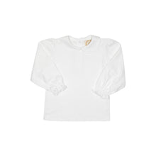 Load image into Gallery viewer, Maude's Peter Pan Collar Shirt - Worth Ave White - Long Sleeve - Pima
