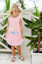 Load image into Gallery viewer, Annie Apron Dress w/ Sailboat Applique
