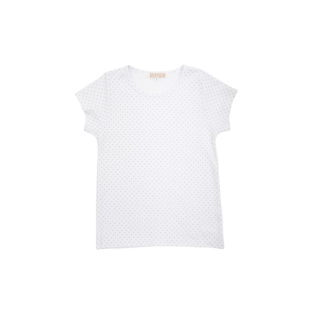 Plain Jayne Play Shirt - Park City Periwinkle Micro Dot