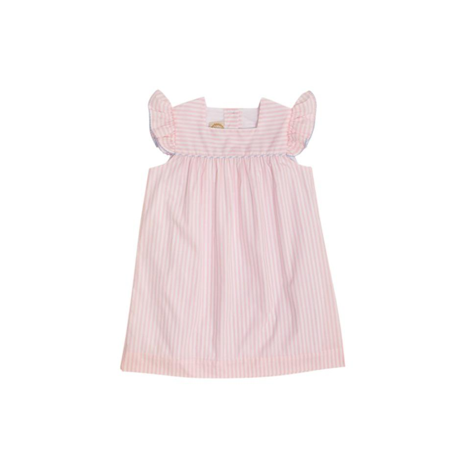 Rosemary Ruffle Dress - Pinkney Pink Stripe w/ Beale Street Blue Stripe