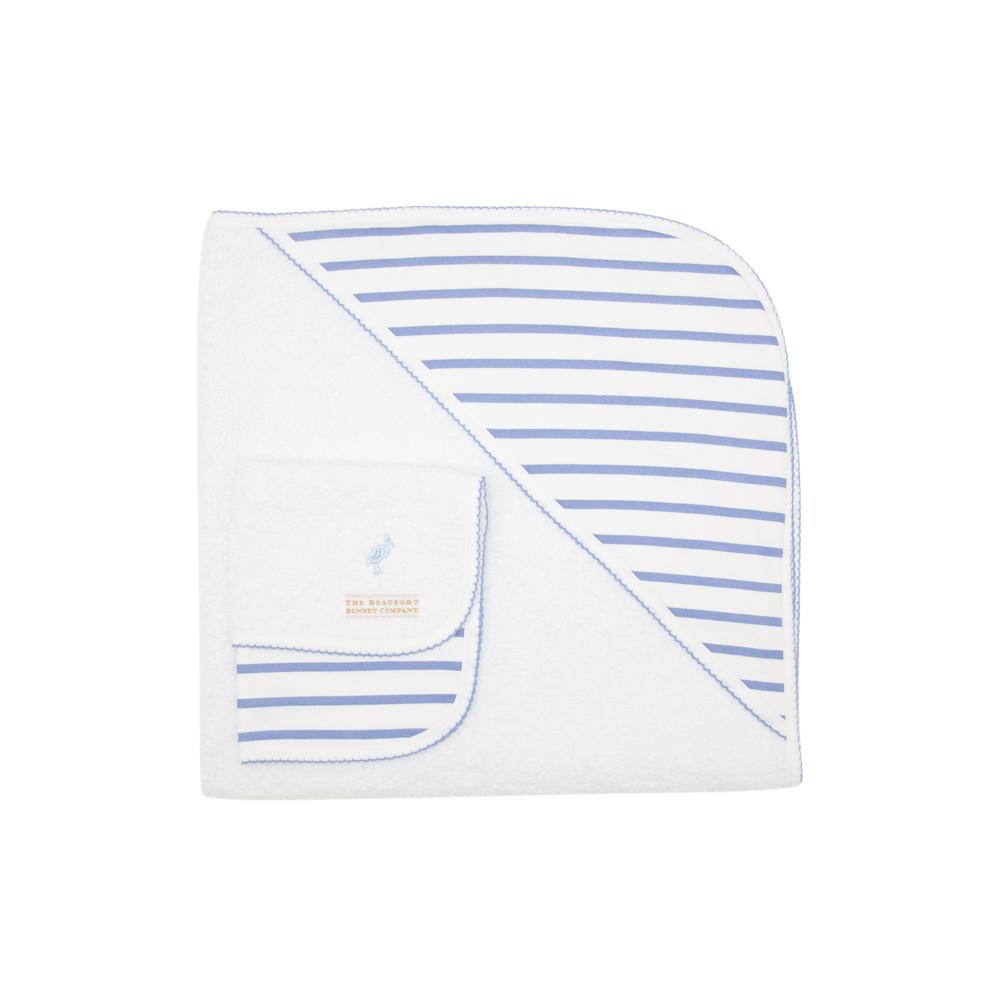 The Rub-a-Dub Gift Set - Park City Periwinkle Stripe