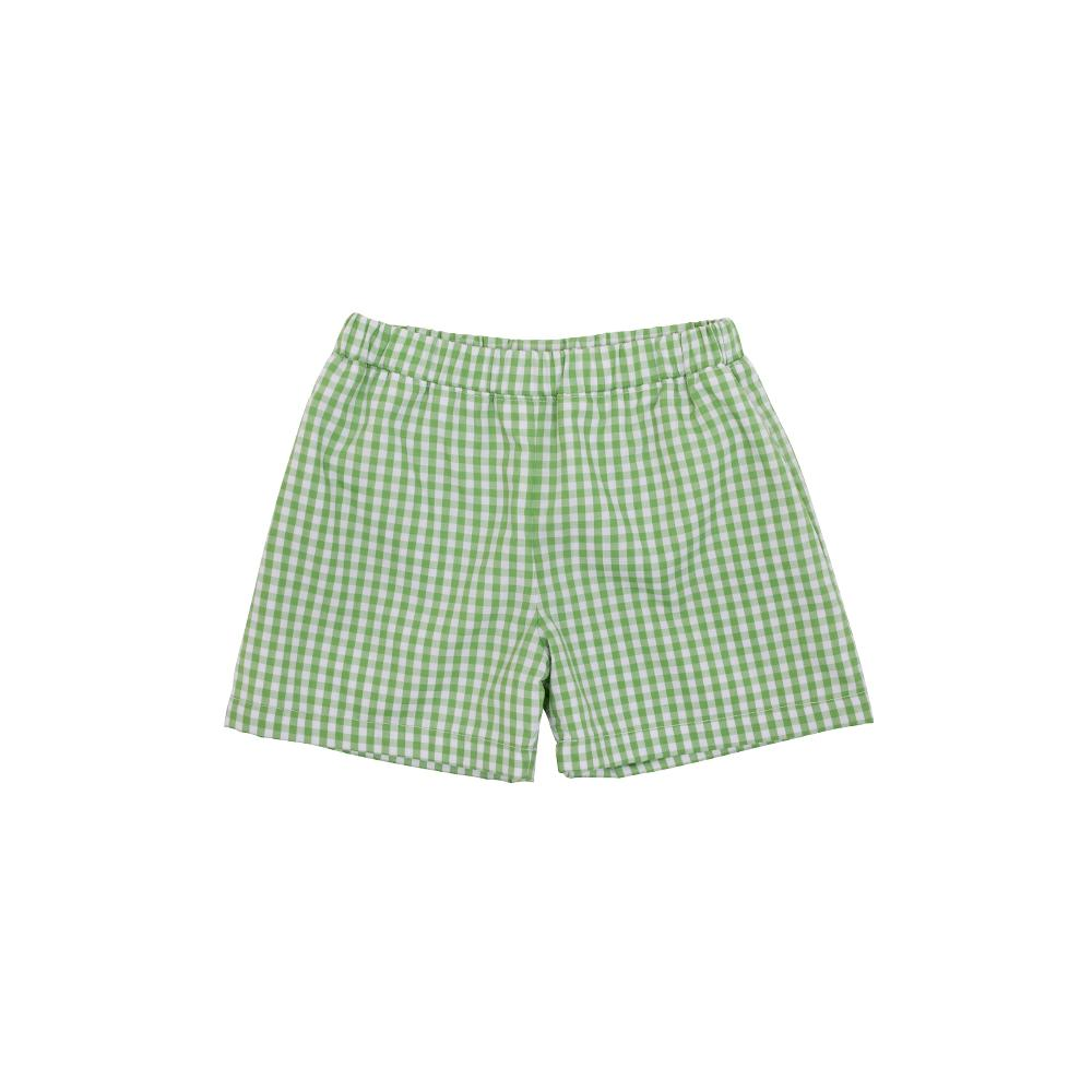 Shelton Shorts - Grenada Green Gingham w/ Park City Periwinkle
