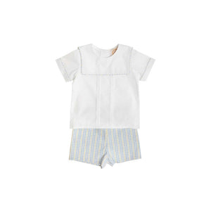 Shepherd Short Set - Worth Ave White w/ Sir Proper's Sunny Plaid