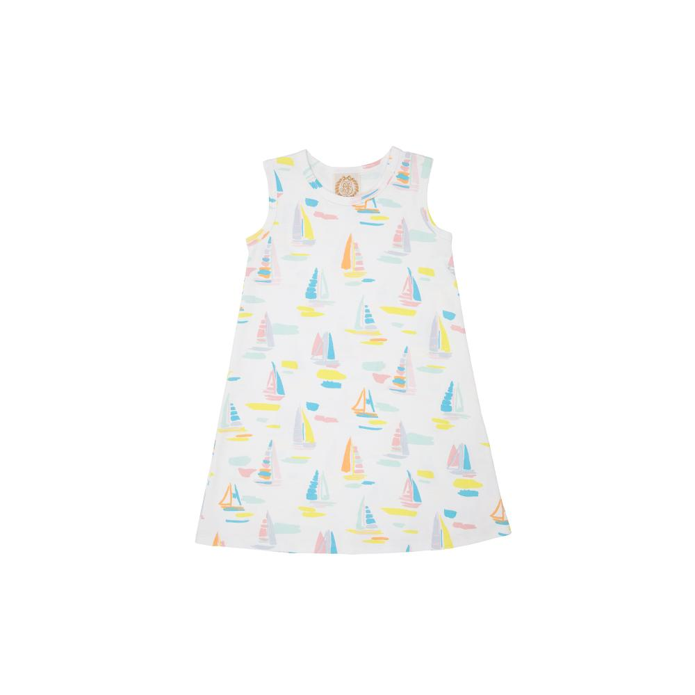 Polly Play Dress - Sandyport Sailboat - Sleeveless
