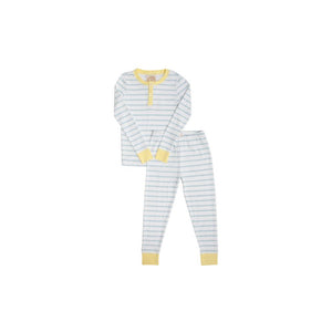Sutton's Sweet Dream Set - Buckhead Blue Stripe w/ Lake Worth Yellow