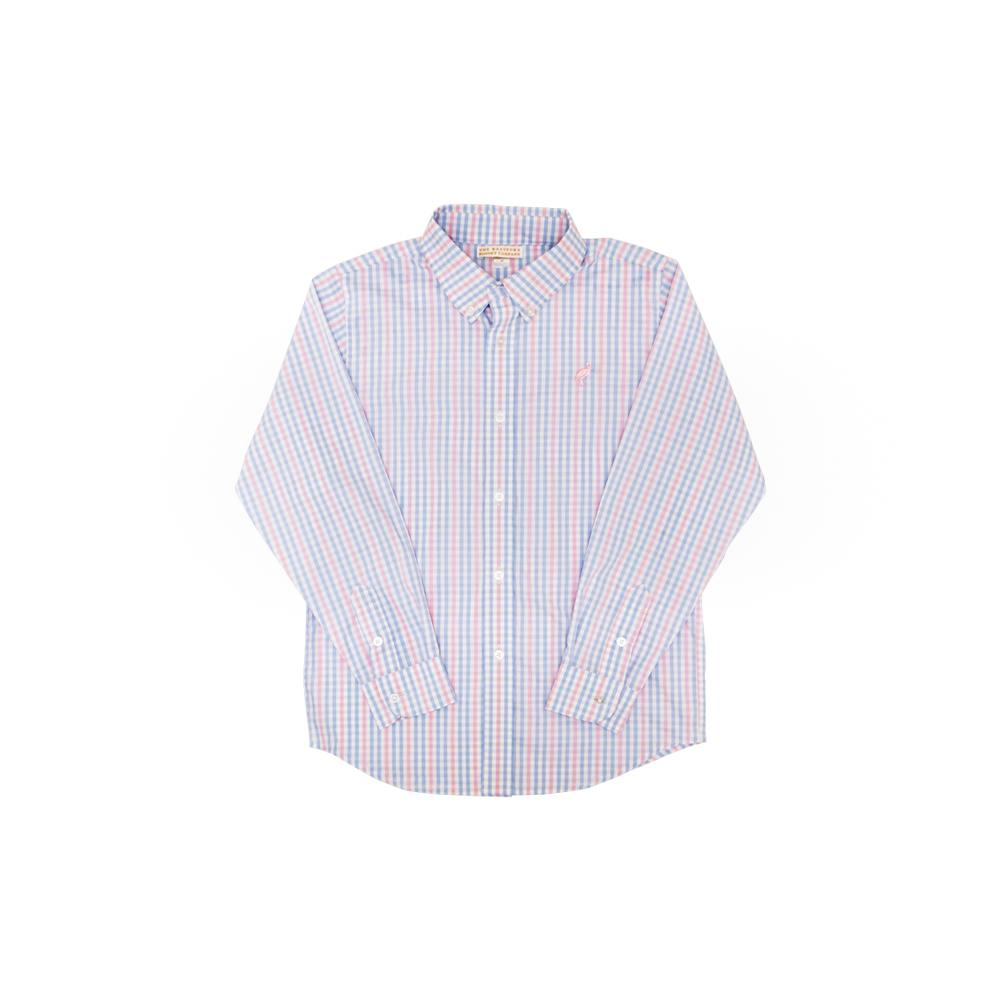 Dean's List Dress Shirt- Palm Beach Pink- Sir Proper Signature Plaid