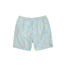 Load image into Gallery viewer, Toddy Swim Trunks - Sandyport Sailboats - Men's