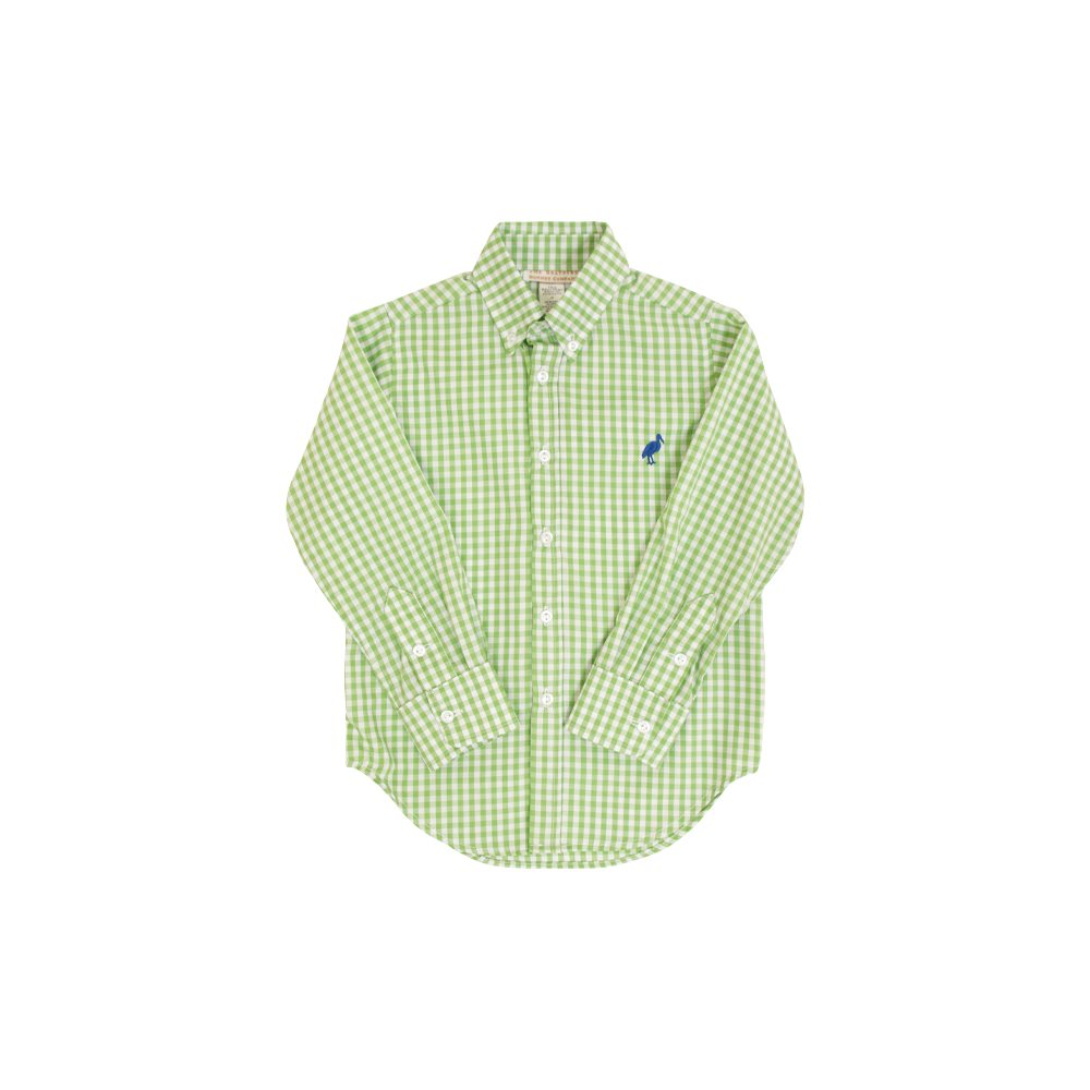 Dean's List Dress Shirt - Grenada Green Gingham w/ Rockefeller Royal