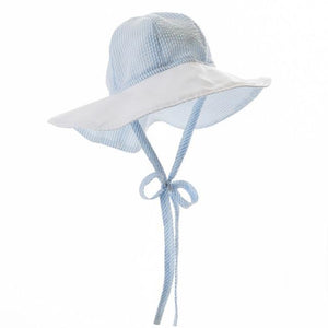 Sawyer Sunhat - Breakers Blue Seersucker