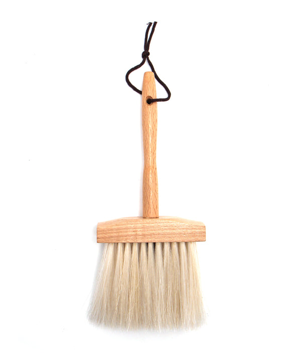 Hat Crown Brush - Light Horsehair