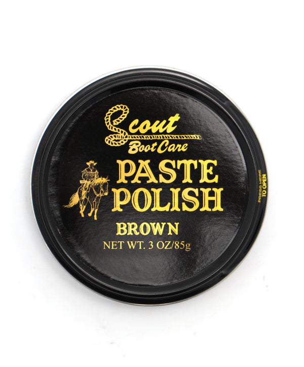 Scout Leather Boot Polish Paste - Brown