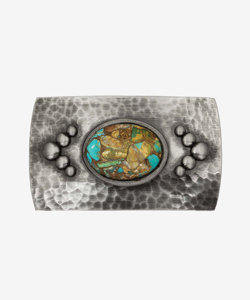 Montana Silversmiths River Rock Cascade Turquoise Buckle