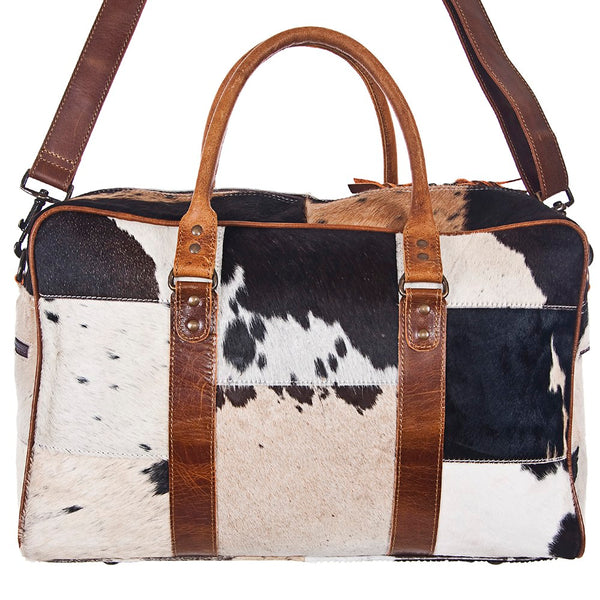 BLACK AND WHITE DUFFLE