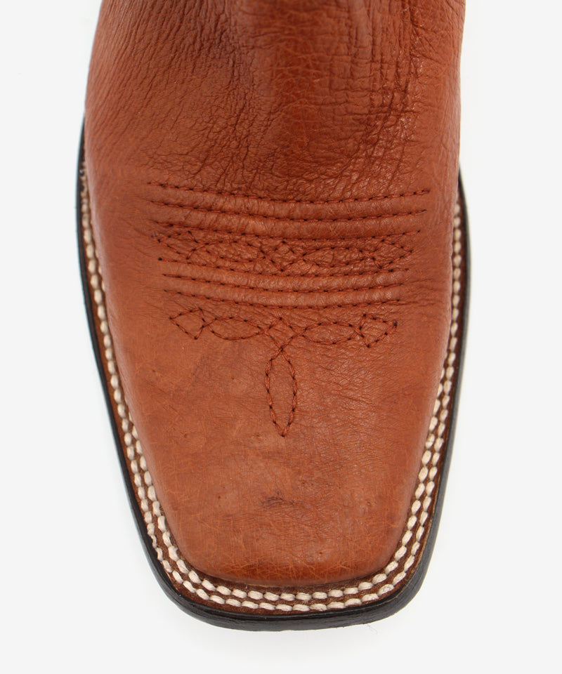 Corral Smooth Ostrich Boot in Honey
