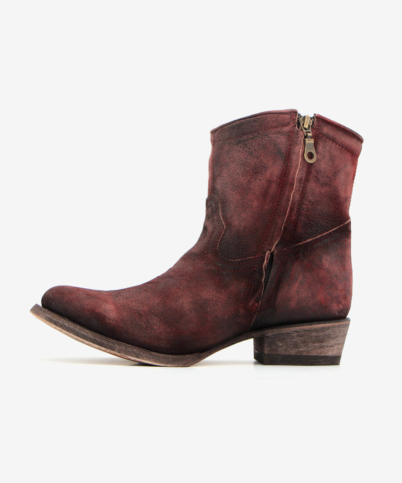 Corral Short Top Lamb Bootie in Wine