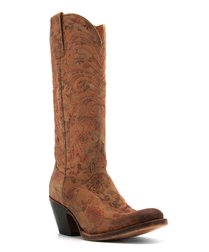Lucchese Laurelie Boot in Tan Floral