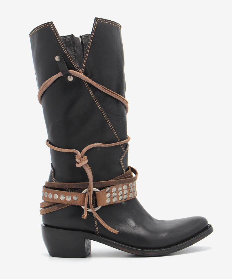 Liberty Black Michelle Boot in Black Wrangler