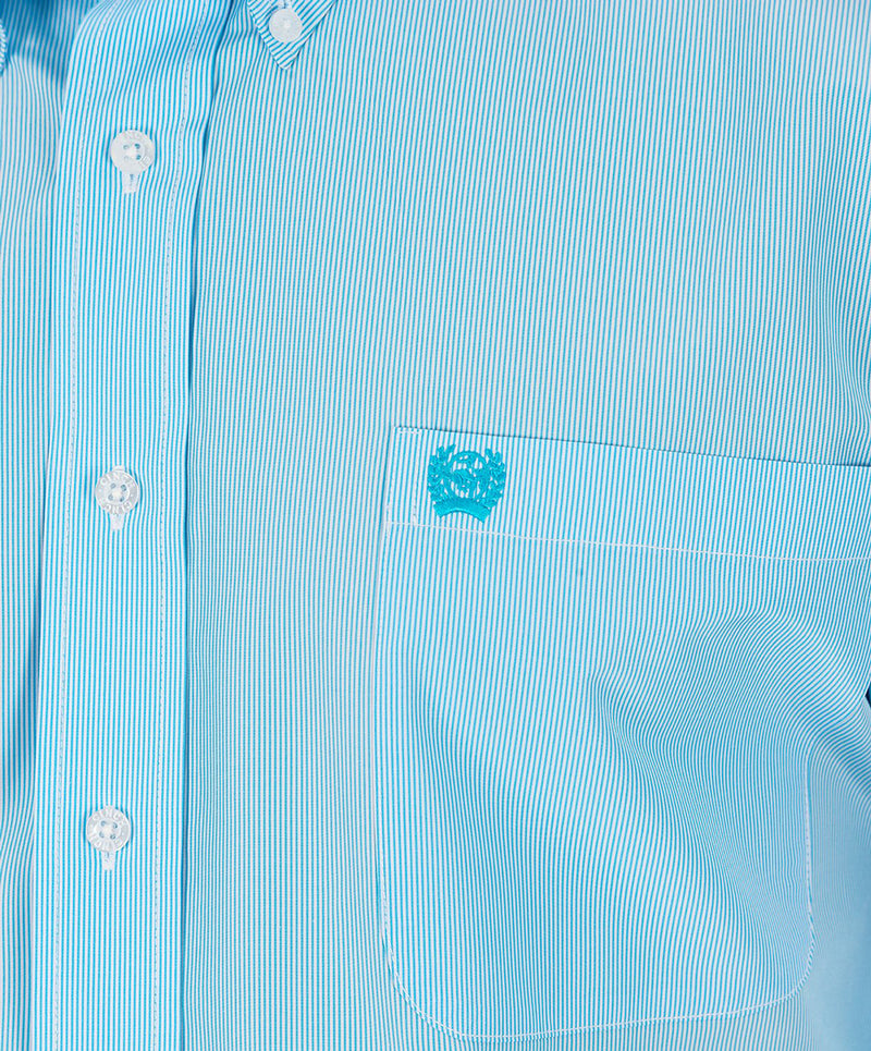 Cinch Light Blue Micro-Stripe Western Shirt