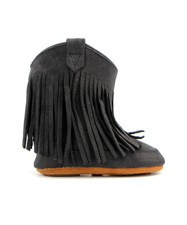 Old West Infant Black Fringe Poppets