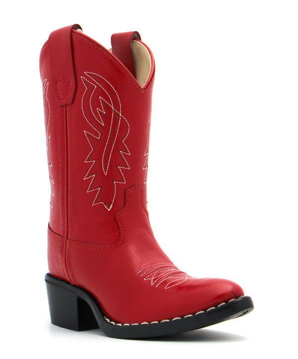 Old West Children's Retro Red Boots