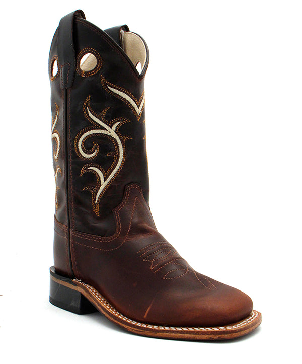 Old West Children's Carona Calf Dark Brown Boot