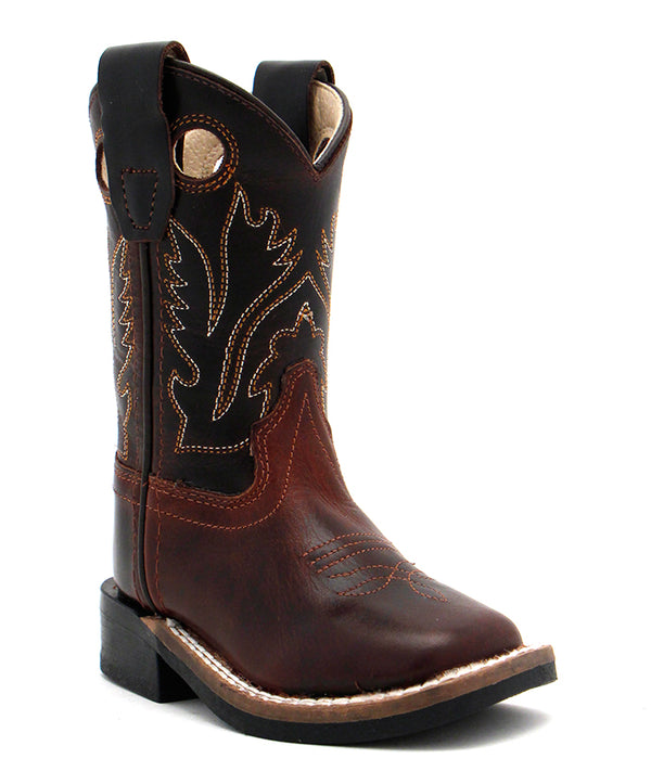 Old West Toddler Carona Calf Dark Brown Boot