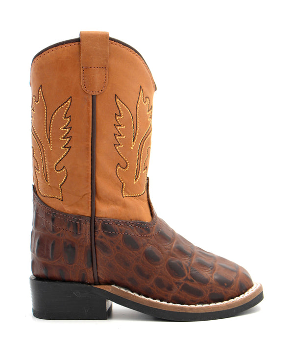 Old West Toddler Gator Print Boot