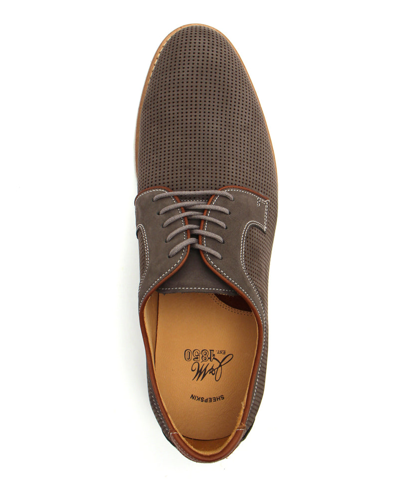 J&M 1850 Martell Shoe in Perforated Gray