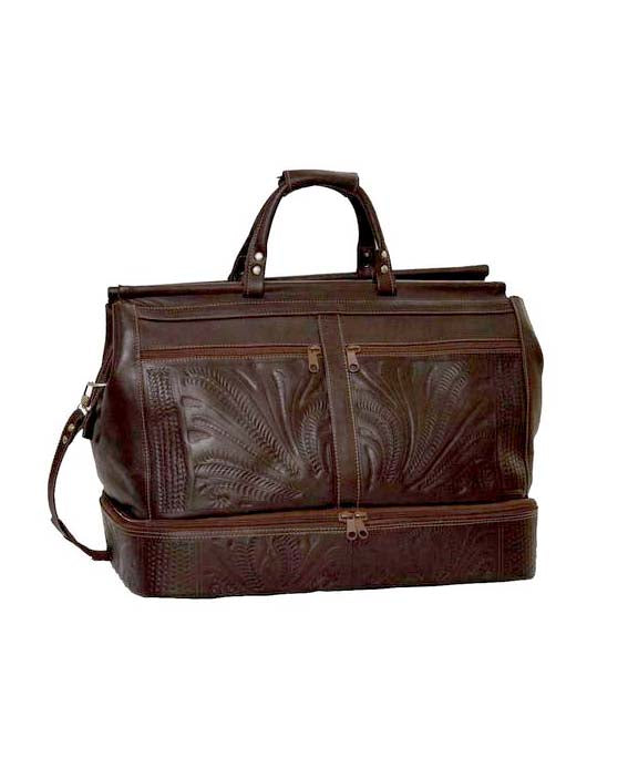 Ropin West False-Bottom Carry-On Bag in Brown
