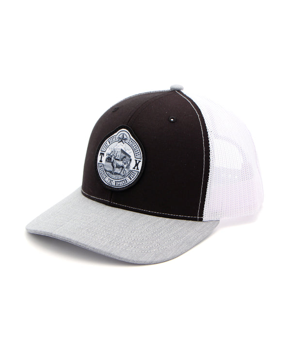 Maverick Steer Patch Cap in Black-Gray