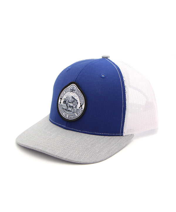 Maverick Steer Patch Cap in Blue-Gray