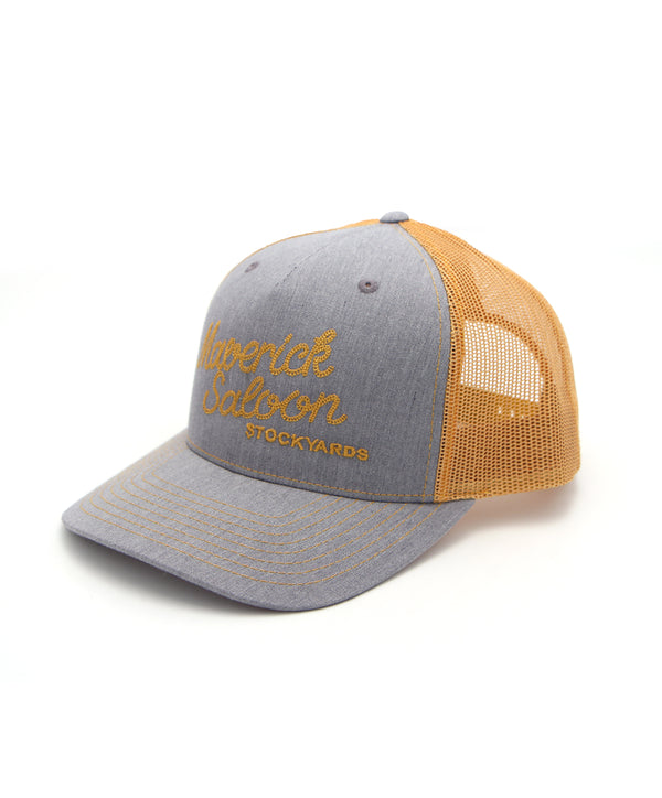 Maverick Saloon Cap in Gray-Gold