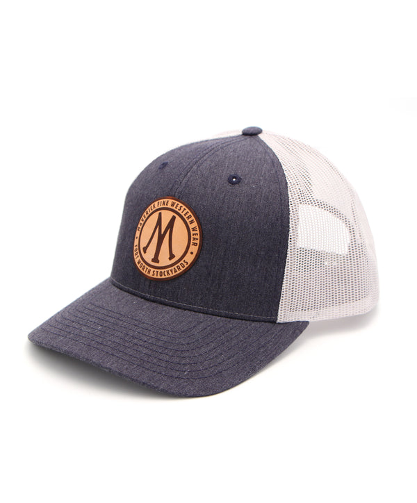 Maverick Leather Logo Cap in Denim