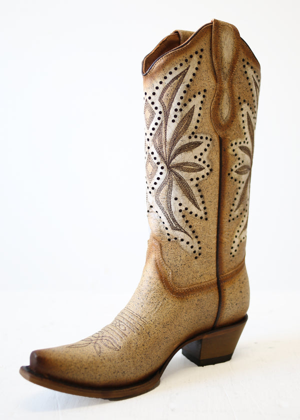 CORRAL CIRCLE G LASER & EMBROIDERED BOOTS