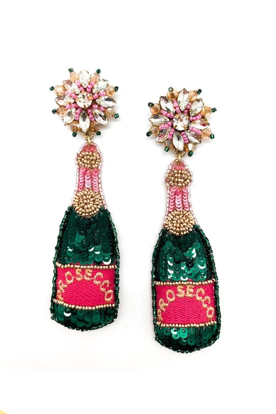 PROSECCO BOTTLE EARRINGS