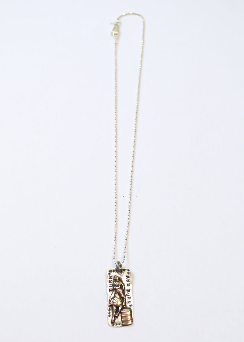 TURN AND BURN BARREL RACER NECKLACE
