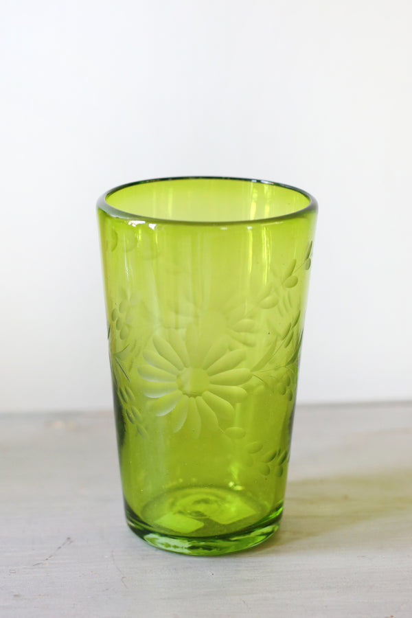 Rose Ann Hall Condessa Glass in Crystal Green