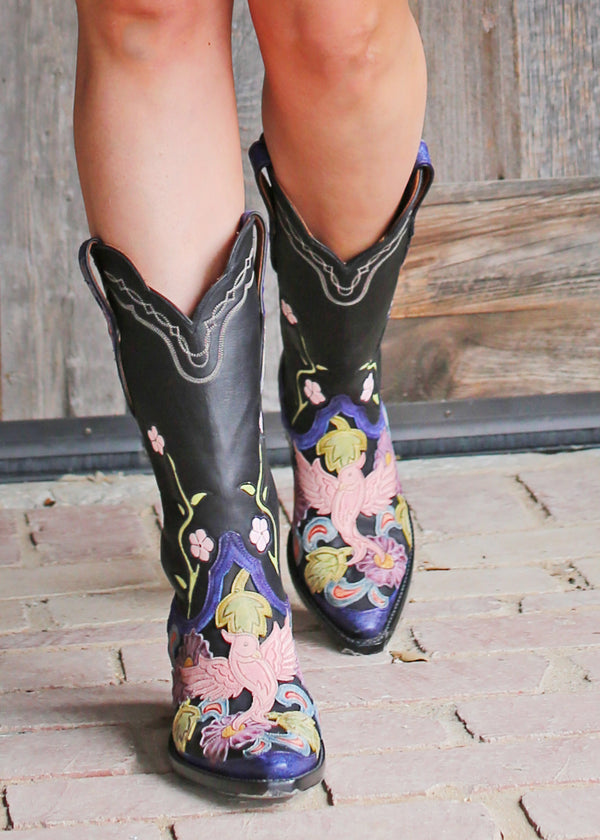 Hand Tooled Ranch Hand Boot