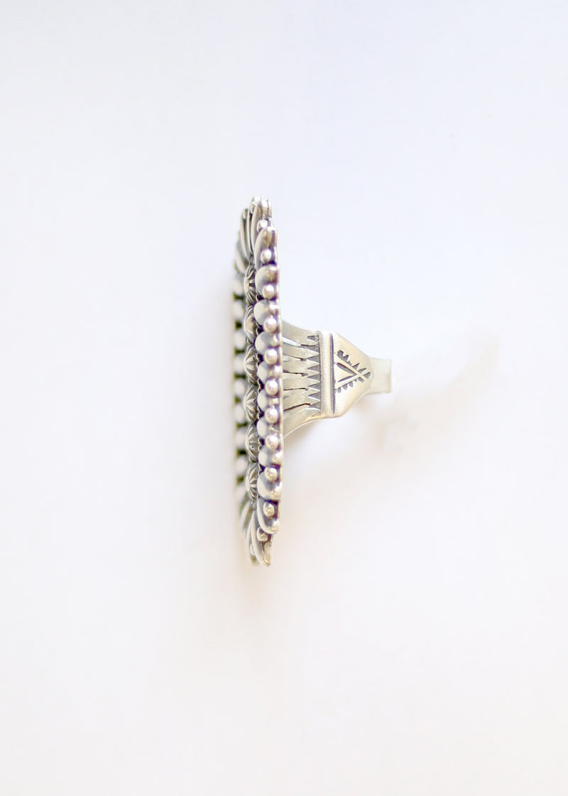 PATRICK YAZZIE OBLONG DESIGN RING SIZE 6