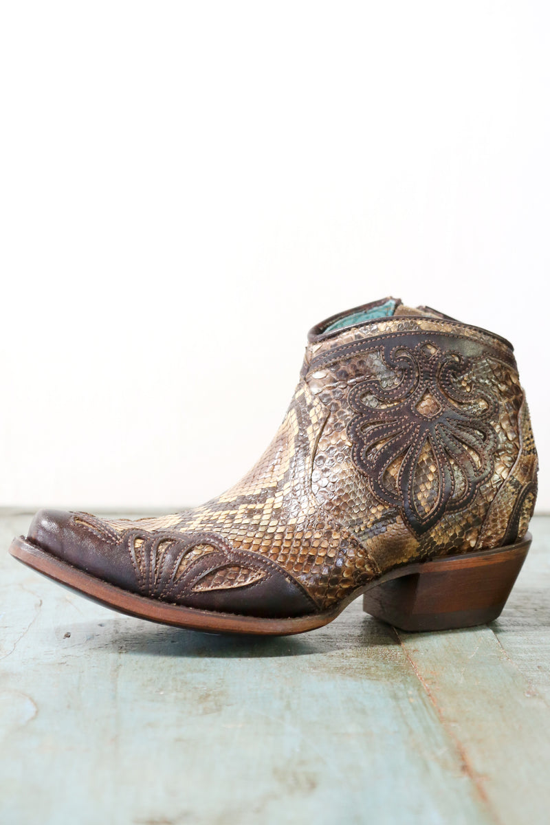 PYTHON WITH LEATHER BOOTIE