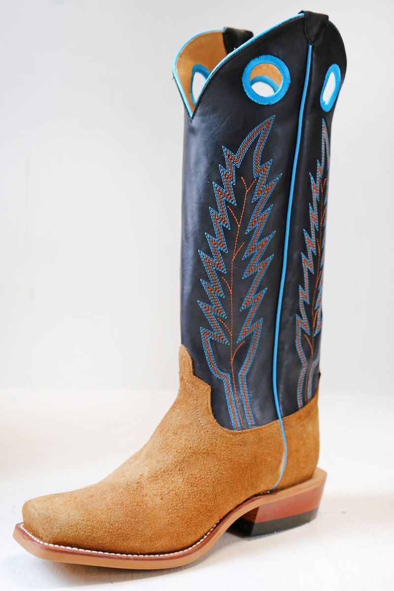 TURQUOISE PIPING BROWN/BLACK BOOT