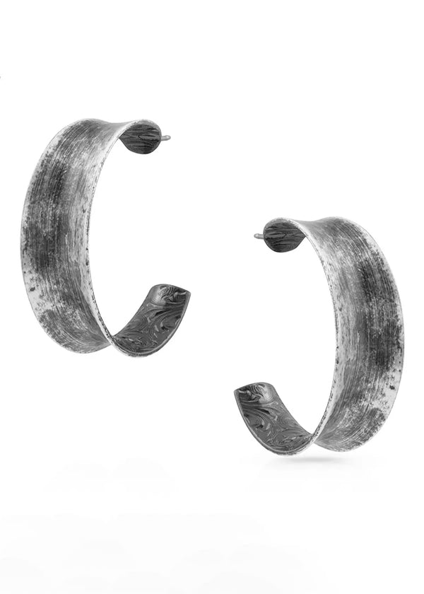Rocky Top Hammered Hoop Earrings